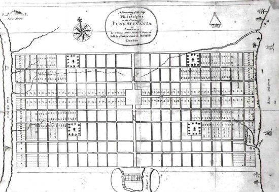 William Penn Plan for Philadelphia