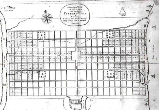 William Penn Plan for Philadelphia