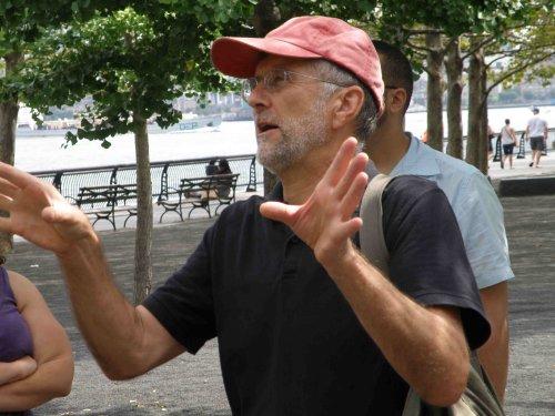 Ron Hine leading tour