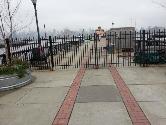Gated entrance to Pier 13 appears closed to the public.