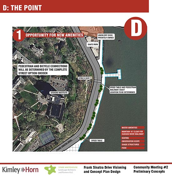 A mere 18 trees is shown in the City's plan for Sinatra Drive at Castle Point.,