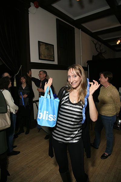 Emmanuelle Morgen with her winning item from Bliss.