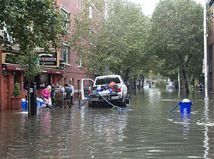Hoboken flooding 1st Street 300x224