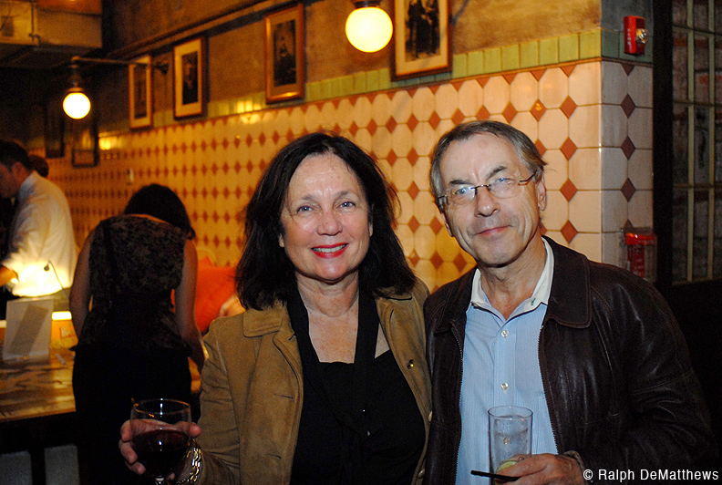 Karen Meneghin and Hartmut Grossmann who were one of the event sponsors.