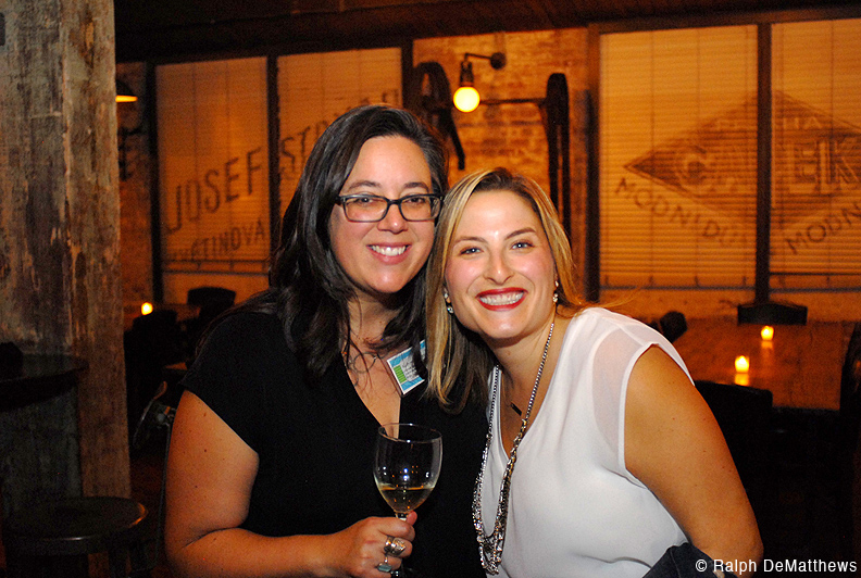 FBW Board member Kate Valenta (on left) with her friend Hannah Gordon. Kate also served on the Connect the Waterfront event committee.