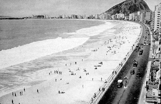 The Copacabana Beach provides a truly public asset for Rio de Janiero, Brazil.