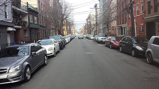 The streets of Hoboken are filled with parked cars. With the addition of thousands of off-street parking spots over the past several decades, traffic woes have worsened.