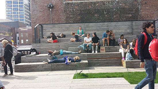 The High Line utilizes consistent and unique designs for its benches, lounge chairs and other seating areas for the entire length of this linear park.