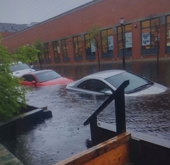The flash flooding that occurred on May 6, 2017 surrounding the Hoboken ShopRite at 900 Madison Street was reminiscent of Superstorm Sandy.